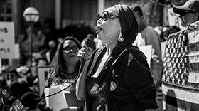 Deborah Nelson Speaks at a March